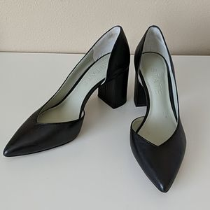 1.State Black Leather Pumps 6